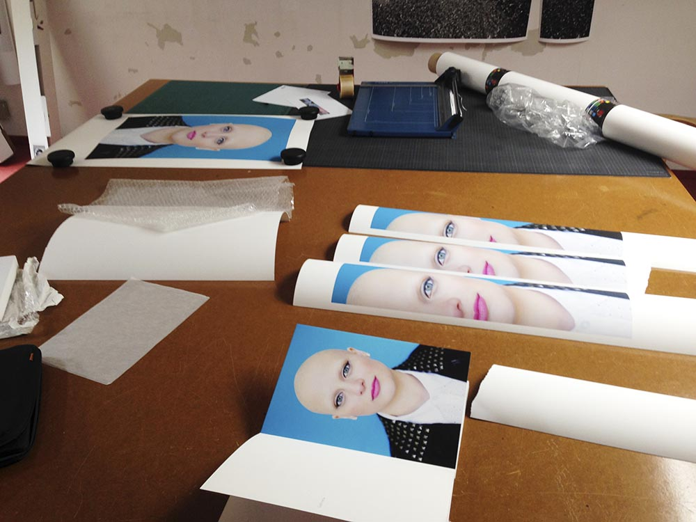 Printing with Florian Richter for a group show at Aff Galerie that will take place during the Berlin Gallery Weekend