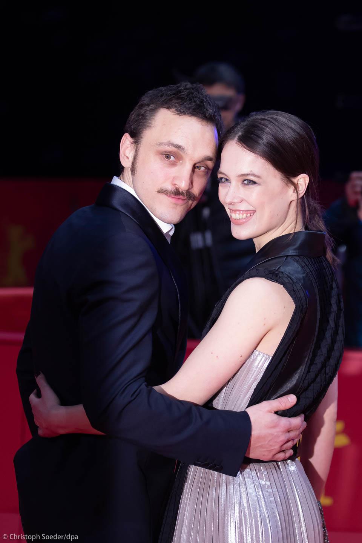 Actors Franz Rogowski and Paula Beer